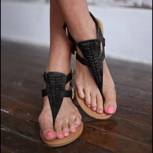 RILEY  Boho Sandal - BLACK
